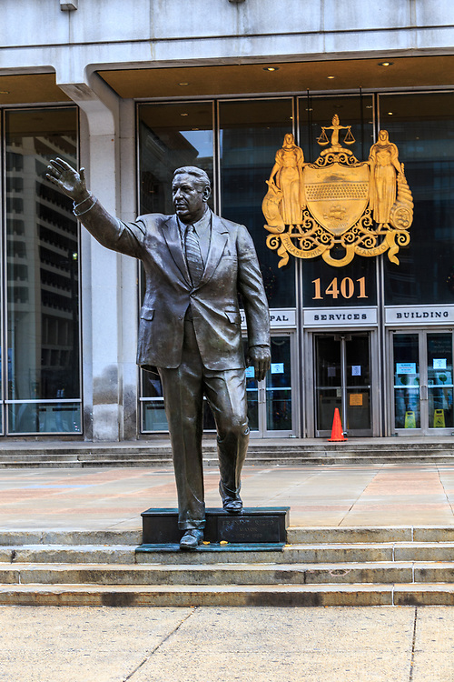 Mayor Frank Rizzo Statue at the Municipal Services Building in Philadelphia