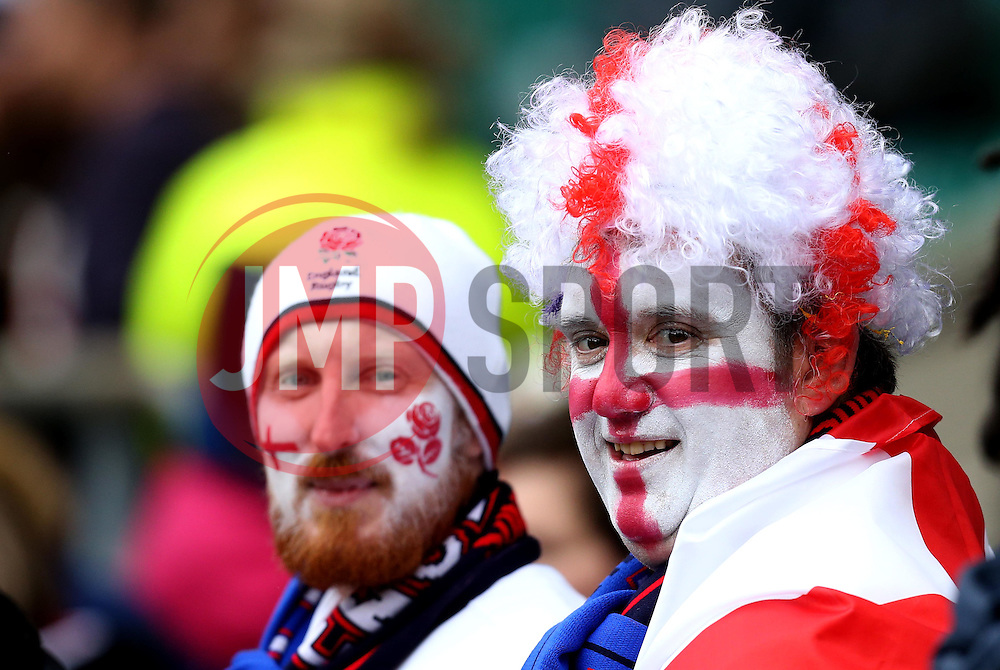 England fans with face paint - Mandatory by-line: Robbie Stephenson/JMP - 26/02/2017 - RUGBY - Twickenham Stadium - London, England - England v Italy - RBS 6 Nations round three