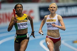 08.03.2014, Ergo Arena, Sopot, POL, IAAF, Leichtathletik Indoor WM, Sopot 2014, im Bild MALGORZATA HOLUB, 4X400 m // MALGORZATA HOLUB, 4X400 m during day two of IAAF World Indoor Championships Sopot 2014 at the Ergo Arena in Sopot, Poland on 2014/03/08. EXPA Pictures © 2014, PhotoCredit: EXPA/ Newspix/ Radoslaw Jozwiak<br /> <br /> *****ATTENTION - for AUT, SLO, CRO, SRB, BIH, MAZ, TUR, SUI, SWE only*****