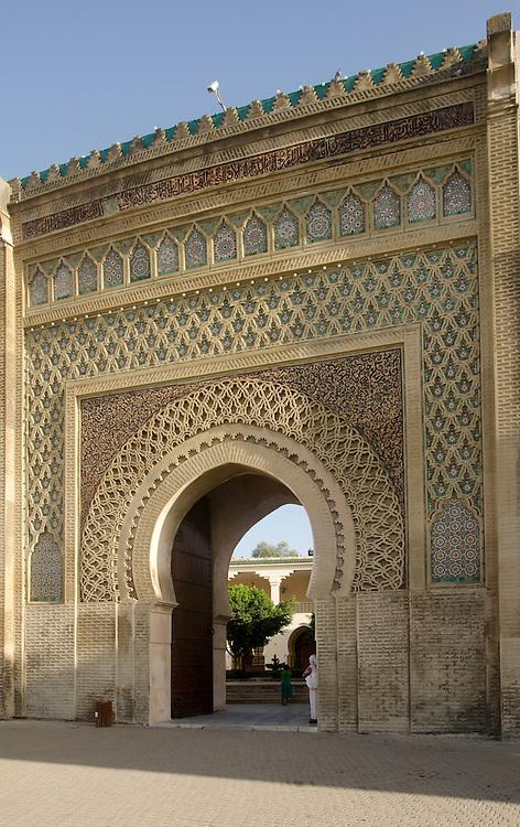 Famous Bab el Mansour gate in Meknes Morocco