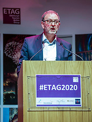 Donald Emslie, chairman of Edinburgh Tourism Action Group addressing its conference at the Assembly Rooms. Pic; Terry Murden, @edinburghelitemedia