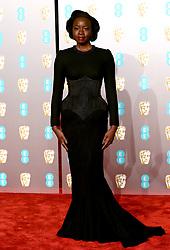 Danai Gurira attending the 72nd British Academy Film Awards held at the Royal Albert Hall, Kensington Gore, Kensington, London.
