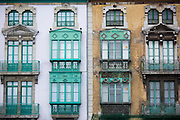 Traditional architecture in Gijon city, Asturias, Northern Spain
