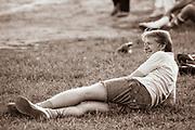 President Jimmy Carter plays softball in Plains, Georgia
