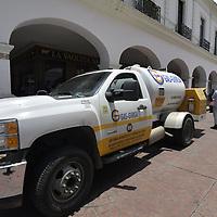 Toluca, México.- Aspectos de la distribución de gas LP  con la entrada en vigor de los precios máximos del energético establecidos por la Comisión Reguladora de Energía (CRE) a partir del mes de agosto del 2021. Agencia MVT / Arturo Hernández.