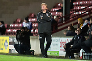 Scunthorpe United manager Stuart McCall during the The FA Cup 1st round match between Scunthorpe United and Burton Albion at Glanford Park, Scunthorpe, England on 10 November 2018.