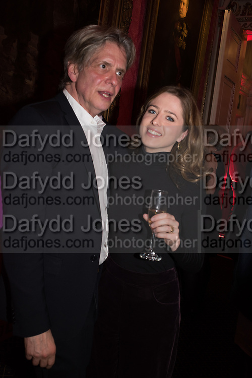 COSMO LANDESMAN, CONSTANCE WATSON, Literary Review  40th anniversary party and Bad Sex Awards,  In & Out Club, 4 St James's Square. London. 2 December 2019