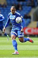 Kenneth Zohore of Cardiff city in action. EFL Skybet championship match, Cardiff city v Nottingham Forest at the Cardiff City Stadium in Cardiff, South Wales on Easter Monday 17th April 2017.<br /> pic by Andrew Orchard, Andrew Orchard sports photography.