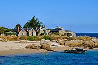 France, Manche (50), îles Chausey, village des Blainvillais // France, Normandy, Manche department, Chausey isands, Blainvillais village