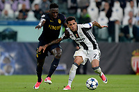 Benjamin Mendy Monaco, Dani Alves Juventus <br /> Torino 09-05-2017 Juventus Stadium Football Calcio Champions League 2016/2017 semifinal Juventus - Monaco . Foto Filippo Alfero Insidefoto