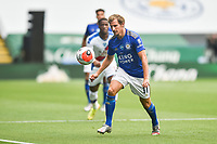 LEICESTER, ENGLAND - JULY 04: Marc Albrighton of Leicester City controls the ball during the Premier League match between Leicester City and Crystal Palace at The King Power Stadium on July 4, 2020 in Leicester, United Kingdom. Football Stadiums around Europe remain empty due to the Coronavirus Pandemic as Government social distancing laws prohibit fans inside venues resulting in all fixtures being played behind closed doors. (Photo by MB Media)