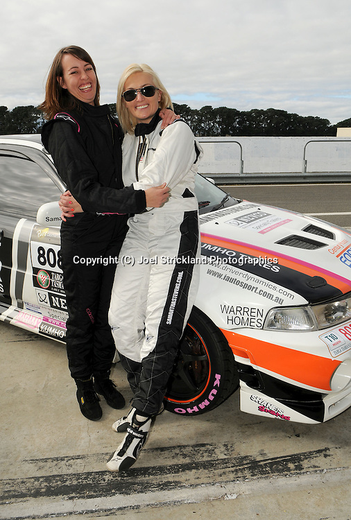 #808 - Samantha Stevens & Claire Ryan - 1999 Mitsubishi Lancer Evolution VI.Media Day .Symmons Plains .Targa Tasmania 2010.26th of April 2010.(C) Joel Strickland Photographics.Use information: This image is intended for Editorial use only (e.g. news or commentary, print or electronic). Any commercial or promotional use requires additional clearance.