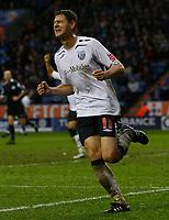 Photo: Steve Bond/Sportsbeat Images.<br />Leicester City v West Bromwich Albion. Coca Cola Championship. 08/12/2007. Zoltan Gera celebrates