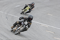 Michael Lange in the Sons of Speed Vintage Motorcycle Races at New Smyrina Speedway. New Smyrna Beach, USA. Saturday, March 9, 2019. Photography ©2019 Michael Lichter.