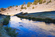 Morning light on Hot Creek near Mammoth Lakes, eastern Sierra Nevada Mountains, California
