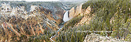 67545-09112 Lower Falls in fall, Yellowstone National Park, WY