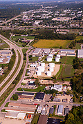 Aerial photograph of McFarland, Wisconsin, USA.