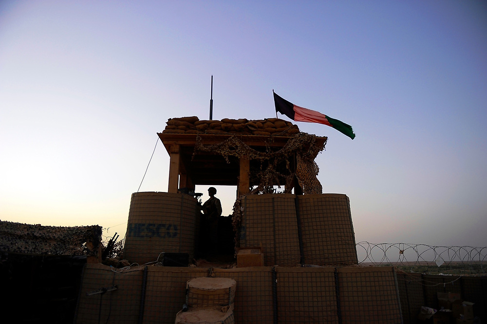 9/8/10 1:47:11 AM -- -- <br /> 1st Battalion, 2nd Marine Regiment, marines on post in the early morning hours at the remote outpost Kunjak near Musa Qala, Helmand Province, Afghanistan. <br /> <br /> Photo by Jack Gruber, USA TODAY Staff