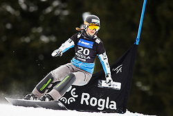 Daniela Ulbing (AUT) competes during Qualification Run of Women's Parallel Giant Slalom at FIS Snowboard World Cup Rogla 2016, on January 23, 2016 in Course Jasa, Rogla, Slovenia. Photo by Ziga Zupan / Sportida