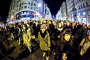 Spontaneous demonstration of the citizens of Madrid against government corruption
