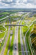 Nederland, Zuid-Holland, Leiderdorp, 28-04-2017; Bospolder, ingang boortunnel HSL-spoorlijn. De tunnel is ook bekend als tunnel onder het Groene Hart.<br /> Entrance highspeed train tunnel.<br /> luchtfoto (toeslag op standard tarieven);<br /> aerial photo (additional fee required);<br /> copyright foto/photo Siebe Swart