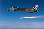 F-14A, VF-111 Sundowners, firing Phoenix AIM-54