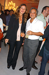 Artist ANISH KAPOOR and his wife SUSANNAH at a party to celebrate the publication of 'Shalimar The Clown' by Salman Rushdie, held at the David Gill Galleries, 3 Loughborough Street, London SE11 on 7th September 2005.<br /><br />NON EXCLUSIVE - WORLD RIGHTS