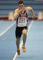 Photo: Rich Eaton.<br /> <br /> EAA European Athletics Indoor Championships, Birmingham 2007. 03/03/2007. Craig Pickering of Great Britain gets a place in the final with this run in the semi final of the mens 60m