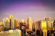 Bangkok golden sunset Sukhumvit Terminal 21, Sheraton, Sofitel hotels Thailand