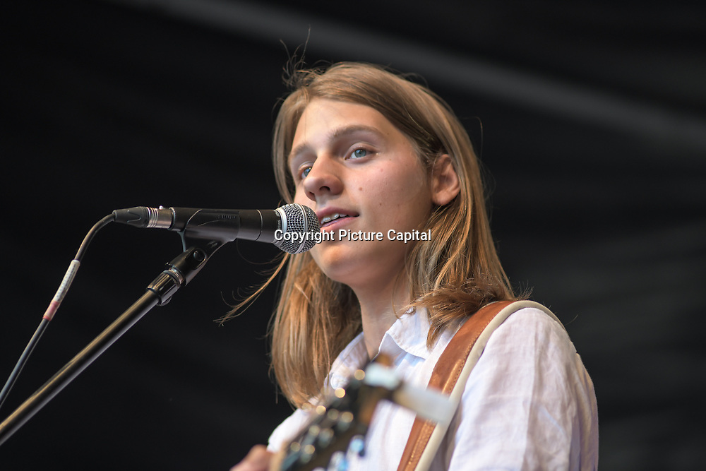 Leoni Jane Kennedy,Will plunkett,Josh Gleaves,James Jackman,Tony Moore performs at the International Busking Day is returning to Wembley Park on 20 July 2019, London, UK.