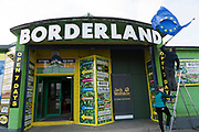 Borderland now a clothes shop in Muff is on the border with Northern Ireland near Londonderry. It sells a range of workwear, sportswear, outdoorwear, clothes, shoes. The shop is on the site and in the original building of an old disco famous in the 1980s. One of the businesses that will be badly hit with a hard border policy