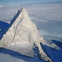 ANTARCTICA. Minaret Peak in the Marble Hills, Ellsworth Mountains (80 degress south latitude.)