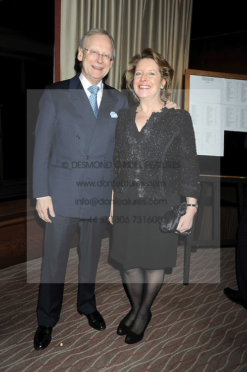 JOHN GUMMER MP and his wife PENNY at the Palace of Varieties in aid of Macmillan Cancer Support held at the InterContinental Hotel, Park Lane, London on 5th February 2009.