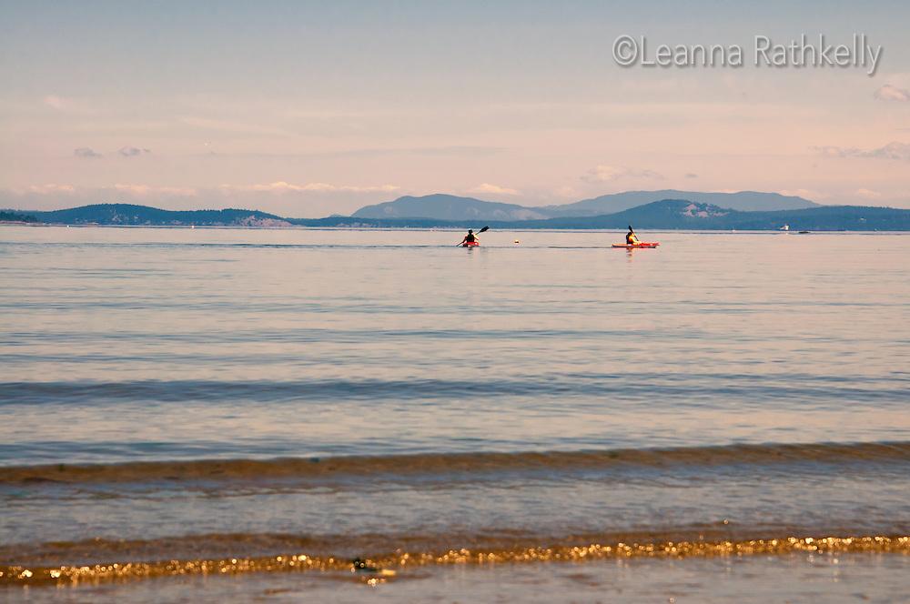 beach, Victoria, Cordova Bay, sandbar, summer, low tide, ocean, kayak, sport,