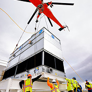 Boeing cooling unit replacement by IMCO General Construction using an Erickson Air-Crane