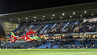 The Thames Valley Air Ambulance takes off after attending a medical emergency at Adams Park, home of Wycombe Wanderers<br /> <br /> Photographer Lee Parker/CameraSport<br /> <br /> The EFL Sky Bet League One - Wycombe Wanderers v Blackpool - Tuesday 28th January 2020 - Adams Park - Wycombe<br /> <br /> World Copyright © 2020 CameraSport. All rights reserved. 43 Linden Ave. Countesthorpe. Leicester. England. LE8 5PG - Tel: +44 (0) 116 277 4147 - admin@camerasport.com - www.camerasport.com