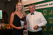 Claudia Green, Hinds players player of the year, Central Districts Cricket Awards Dinner, The Old Church, Napier, Friday, March 22, 2019. Copyright photo: Kerry Marshall / www.photosport.nz