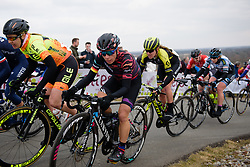 Trixi Worrack approaches the top of the VAMberg at Drentse 8 van Westerveld 2018 - a 142 km road race on March 9, 2018, in Dwingeloo, Netherlands. (Photo by Sean Robinson/Velofocus.com)