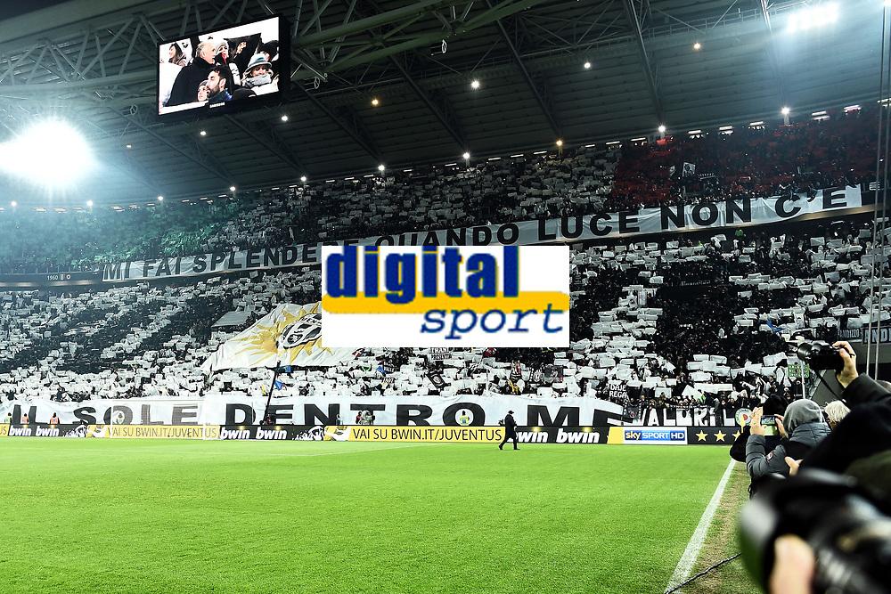 tifosi Juventus Supporters <br /> Torino 07-02-2015, Juventus Stadium, Football Calcio 2014/2015 Serie A, Juventus - Milan, Foto Image Sport/Insidefoto