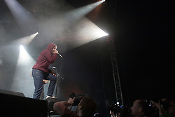 Rou Reynolds, of Enter Shikari on the Clash tent..Rockness, Friday 11th June..Pic ©2010 Michael Schofield. All Rights Reserved.