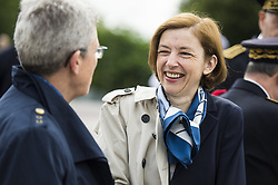 French Junior Minister for Defence Genevieve Darrieussecq, French Defence Minister Florence Parly attend a ceremony commemorating General Charles De Gaulle's June 1940 appeal for French resistance against Nazi Germany, at the Mont Valerien National Memorial in Suresnes on the outskirts of Paris on June 18, 2018. Photo by Eliot Blondet/ABACAPRESS.COM