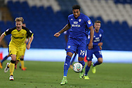 Nathaniel Mendez-Laing of Cardiff City in action. Carabao Cup 2nd round match, Cardiff city v Burton Albion at the Cardiff City Stadium in Cardiff, South Wales on Tuesday 22nd August  2017.<br /> pic by Andrew Orchard, Andrew Orchard sports photography.