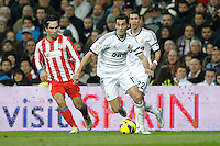 01.12.2012 SPAIN -  La Liga 12/13 Matchday 14th  match played between Real Madrid CF vs  Atletico de Madrid (2-0) at Santiago Bernabeu stadium. The picture show  Alvaro Arbeloa Coca (Spanish defender of Real Madrid)