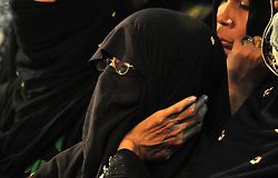 October 28, 2016 - Allahabad, Uttar Pradesh, India - Allahabad: A Shia Muslim women take part in a mourning procession during Muharram in Allahabad on 28-10-2016, Muharram is celebrated to mark the climax of the mourning which is Called Ashura, The ccommenmoration of Imam Hussain's. photo by prabhat kumar verma (Credit Image: © Prabhat Kumar Verma via ZUMA Wire)
