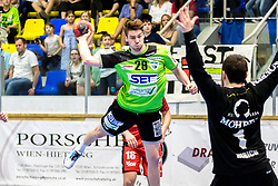 20.04.2018, BSFZ Suedstadt, Maria Enzersdorf, AUT, HLA, SG INSIGNIS Handball WESTWIEN vs Alpla HC Hard, Bonus-Runde, 8. Runde, im Bild Julian Pratschner (SG INSIGNIS Handball WESTWIEN) // during Handball League Austria, Bonus-Runde, 8 th round match between SG INSIGNIS Handball WESTWIEN and Alpla HC Hard at the BSFZ Suedstadt, Maria Enzersdorf, Austria on 2018/04/20, EXPA Pictures © 2018, PhotoCredit: EXPA/ Sebastian Pucher