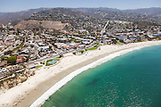 Aerial Stock Photo of Main Beach in Laguna Facing South