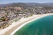 Aerial Stock Photo of Main Beach in Laguna Facing South