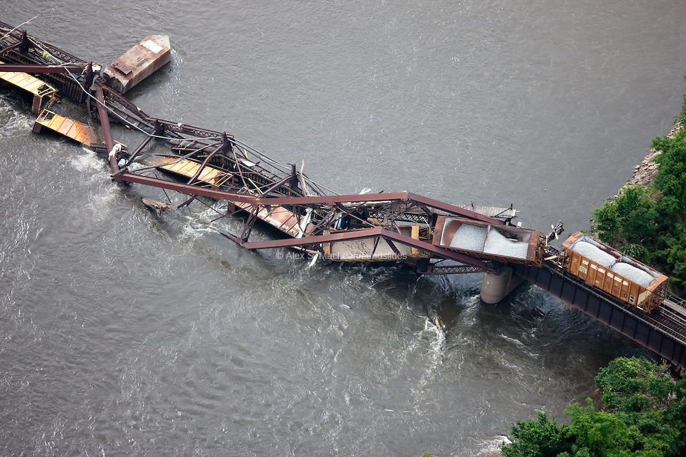 Flood damage outside of Oakville, IA; flood of the upper Mississippi River in June 2008 resulted in thousands of dollars of damage leaving mold and debris in almost every home and business.