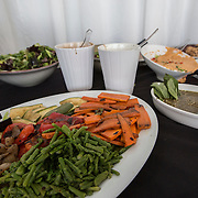August 16, 2014, New Haven, CT:<br /> Food is shown during the Aetna Symposium on day four of the 2014 Connecticut Open at the Yale University Tennis Center in New Haven, Connecticut Monday, August 18, 2014.<br /> (Photo by Billie Weiss/Connecticut Open)