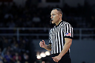 HIGH POINT, NC - JANUARY 06: Referee Ty Meixsell. The High Point University of Panthers hosted the Charleston Southern University Buccaneers on January 6, 2018 at Millis Athletic Convocation Center in High Point, NC in a Division I men's college basketball game. HPU won the game 80-59.